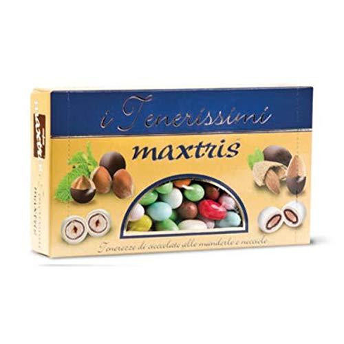 Confetti MAXTRIS tondi TENERISSIMI colorati di mandorla e nocciola