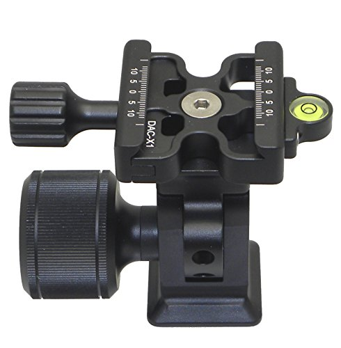 Desmond DMH-2 & 50mm DAC-X1 Clamp Tripod Tilt Head Arca/RRS Compatible Oversized Knob