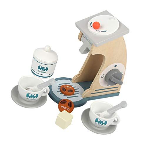 TOYANDONA Juego de Cafetera para Niños con Cafetera Tazas Juego de rol Juguetes Juego de Simulación Accesorios de Cocina para Niños Pequeños