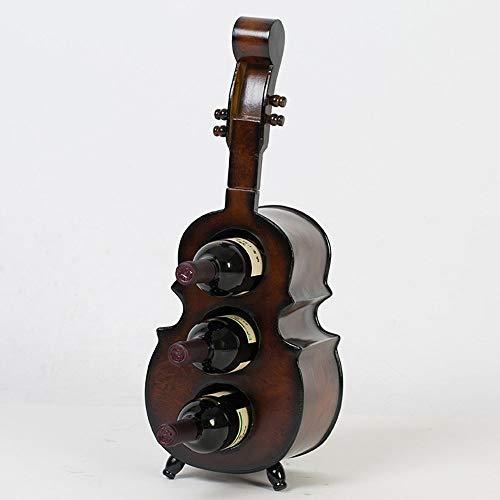 LXD Estantes de Vino, Madera Creativos Adornos Personalizados Impermeable Retro Violin Otro Mood Props Muebles