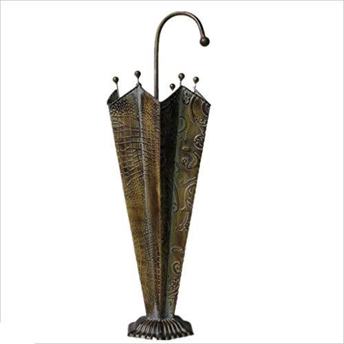 XUSHEN-HU Soporte de paraguas de hierro hecho a mano de hierro creativo para el vestíbulo (61 x 26 x 26 cm)
