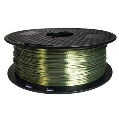 3D Printer Accessories 3D Print Filament 1.75mm PLA Silky Gold 1KG/0.5kg Feel Rich Luster Copper Golden Silver Printer Materials (Color : 1KG 1.75MM bronze, Size : Free)