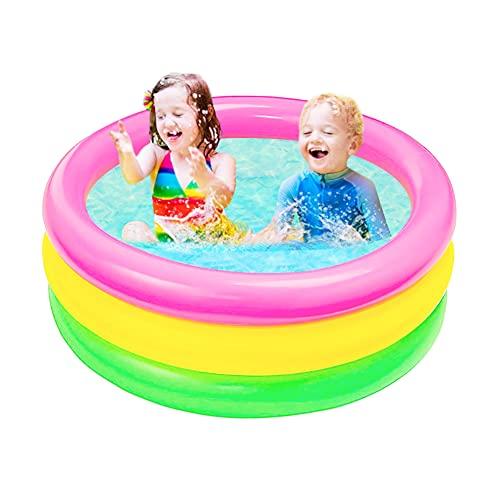 Piscina Inflable BETOY Piscina Infantil de 3 Anillos Alberca de Bolas de Bebé, Centro de Juego de Agua para Niños (diámetro 60 cm)