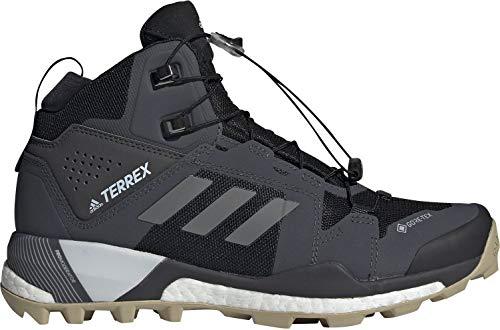 adidas Women's Terrex Skychaser XT Mid Gore-TEX Hiking Shoe, Core Black/Halo Blue/Halo Silver - 9