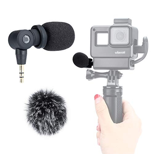 Saramonic SR-XM1 Mini Vlog Microphone, Wireless Video Mic 3.5mm TRS Microphone for Gopro 7 6 5 DJI OSMO Action Pocket Sony A6400 RX100 VII Canon G7X III Vlogging