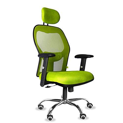 Lwieui Silla de Oficina Ergonómico de Malla giratoria Silla de Oficina Conferencia reclinable Silla de Oficina con la Cintura Soporte y reposabrazos Las sillas de Escritorio