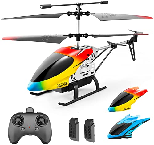 Remote Control Helicopter for Kids Adults,Altitude Hold 2.4GHz 4DM5 RC Helicopters with Gyro for Beginner Toys Aircraft,Indoor Flying with 3.5 Channel,LED Light,High&Low Speed,2 Battery