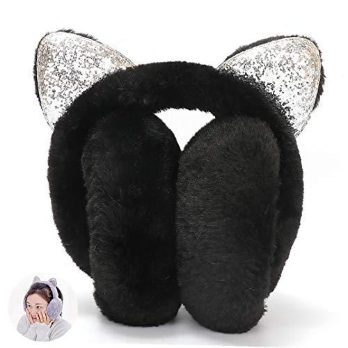 hong Wu 1PC Frauen-Winter-warmes Ohrenschützer-Katze-Ohr Earwarmer Weiche Faltbare...