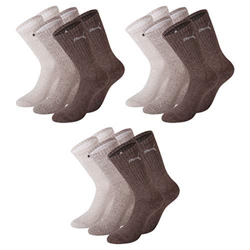 9 Paar Unisex Socken Tennissocken Crew Socks Sportsocken (9, 47-49)