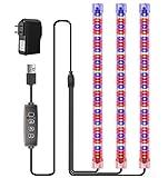 LED Pflanzenlicht,Kleine Wachstumslampe mit Automatischem Ein- und Ausschalttimer 10 Dimmbare Stufen und 3 Lichtschaltmodus-Standwachstumslichter LED Pflanzenleuchte mit Timer 3/9/12ore