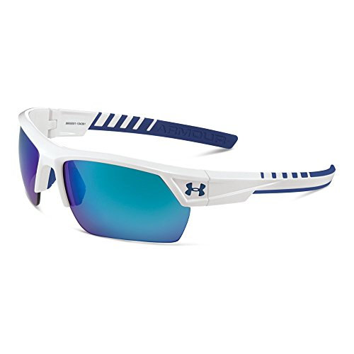 Product Image 1: Under Armour UA Igniter 2.0 White Exterior/Blue Interior/Blue Rubber/Ml Blue Mirror One Size