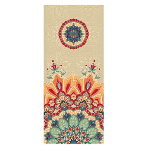 JT- Ampliar Yoga Mat Espesar Alargar Principiante Aptitud Femenina Slip Inicio Yoga Mat Hombres Fácil de almacenar (Color : A)
