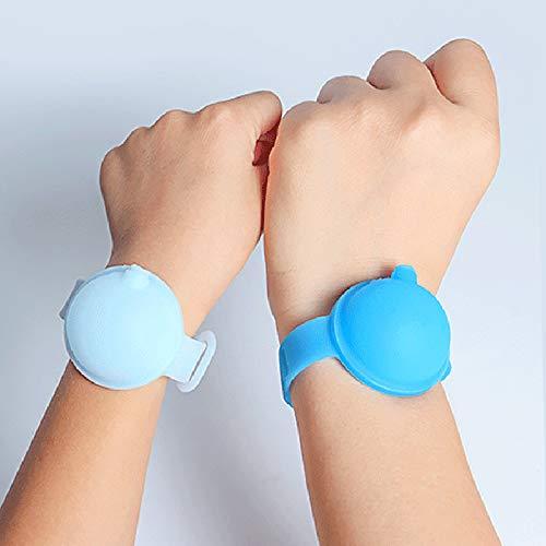 Gxing - Braccialetto in gel per le mani, ricaricabile, mini dispenser, da viaggio igienizzante per le mani, piccolo spremere, colore casuale