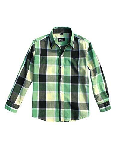 Blancho Chemise simple à manches longues pour garçon Little Gentleman - Vert - Taille Unique