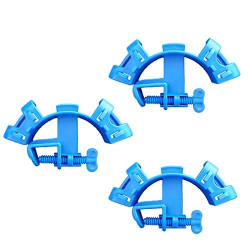 Riveryy Support de Tuyau d'eau d'aquarium, Plastique Tuyau Flexible Fixe, pour Plantes vivantes Poisson Crevettes Outil d'aquarium(3 Pcs Bleu)