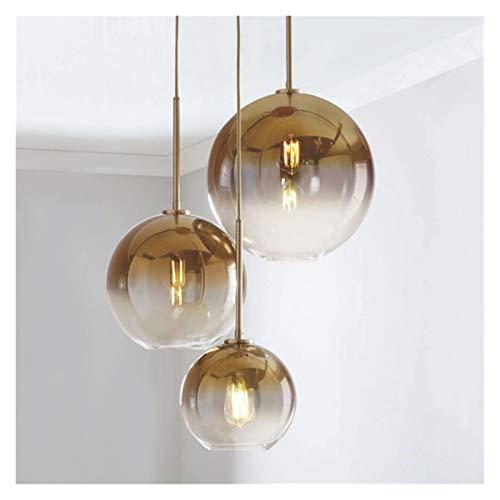 FIRMLEILEI candelabro Colgante Ligera Pendiente Moderna Balón de Plata Copa de Oro de la lámpara del Accesorio Ligero Hanglamp Cocina Comedor Salón Luminaria Decoración hogareña