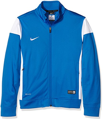 Nike Kinder Sweatshirt Sideline Knit Trainingsjacke, Royal Blue/White, M