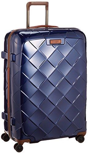 [ストラティック] スーツケース ジッパー レザー&モア 大型 グッドデザイン賞 保証付 100L 75 cm 4.36kg ネイビーブルー