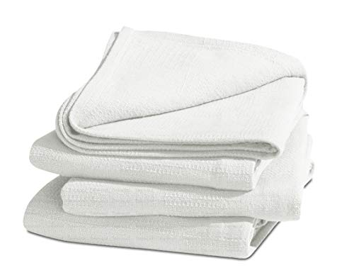 TreeWool 100% Cotton Thermal Blanket - 405 GSM Soft Premium Breathable All-Season Blanket in Checkered Weave (King Size - 90' x 108', Ivory)