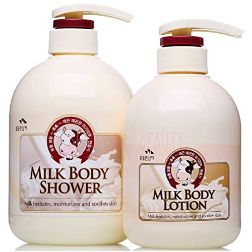SOMANG MILK BODY SHOWER 750ml + BODY LOTION 500ml SET