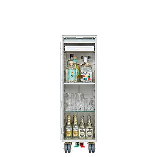 VanDeBord Ausstattungspaket Bar, Zubehör für Airline Trolleys & Flugzeugtrolleys, Flugzeug-Trolley-Bar (Aluminium, Atlas)
