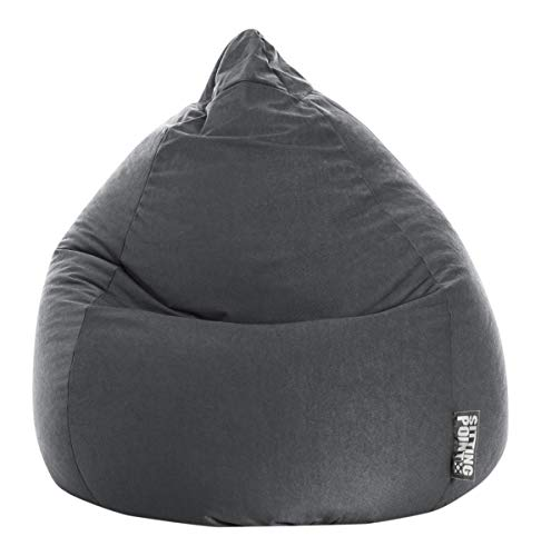 SITTING POINT only by MAGMA Sitzsack Easy XL ca. 220 Liter anthrazit