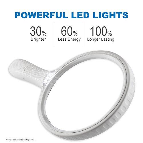 Fancii große Leselupe Lupe mit LED Licht und 2-fach 3,5-fach Vergrößerung – Grosse 138mm Beleuchtet Handlupe für Senioren zum Lesen - 3