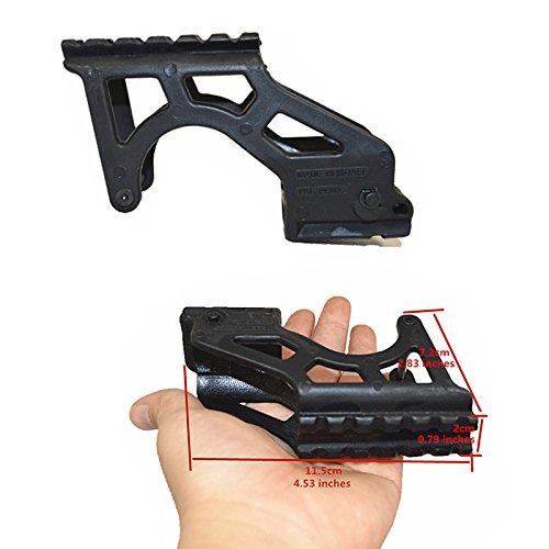 FIRECLUB Linterna táctica de polímero PRO universal para mira de pistola con Picatinny para 17 19 20 21 22 23 34 Gen 3 y 4