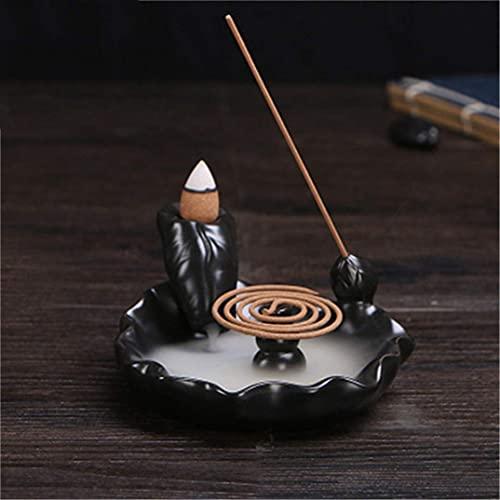 Suporte portátil de incenso de refluxo para lagoa Cachoeira Queimador de incenso de cerâmica Decoração de presente queimador de incenso de refluxo