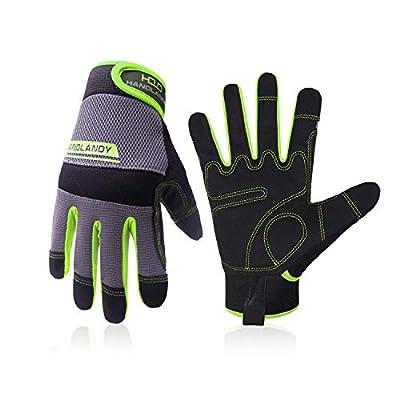 UltraLight Safety Work Gloves for Men&Women Mechanic Driver Gardening Gloves Touchscreen (Large, Green)