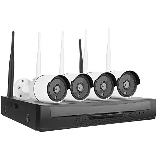 FOLOSAFENAR Cámara de vigilancia de cámara de Seguridad inalámbrica IP66 de Almacenamiento en Disco Duro 8T para iOS,(720P European Standard)