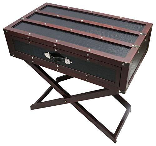 aubaho Beistelltisch Couchtisch Koffertisch Tisch Koffer Nostalgie Antik-Stil Vintage