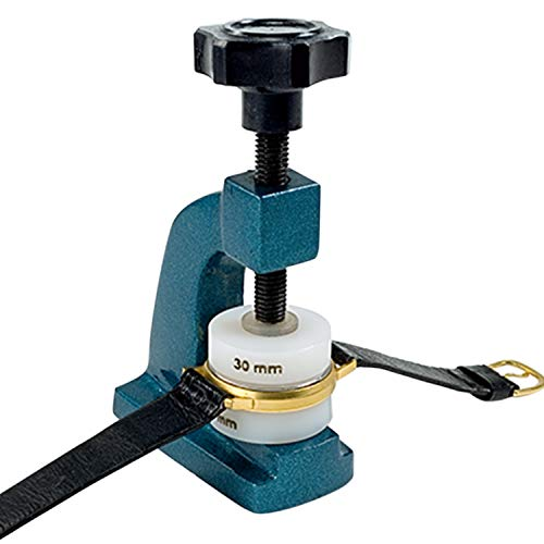 Selva C335917 - Prensa para Relojes, para presionar cuidadosamente Cristales y Fondos de Reloj. con 12 Piezas de presión de plástico (diámetro de 14 a 37 mm)