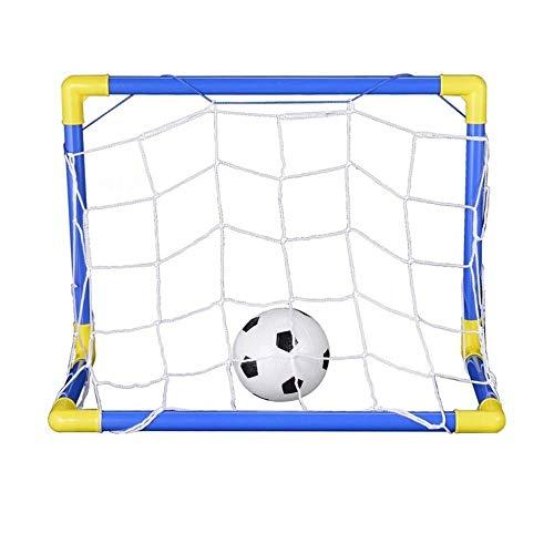 Vektenxi Indoor Mini Klapp Fußball Fußball Torpfosten Net Set + Pumpe Kinder Sport Outdoor Home Game Spielzeug Kind Geburtstagsgeschenk Kunststoff Praktisch