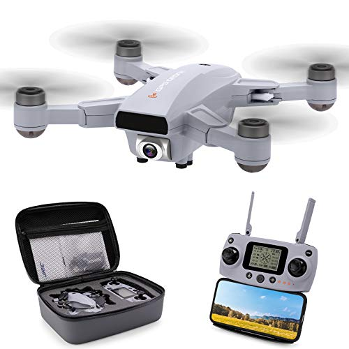 GPS Drone with 2.7K HD Camera Live Video, 25Mins Long Flight Time Drones for Adults, Foldable Quadcopter with Brushless Motor, Return Home, Optical Flow Mode, Follow me, Headless Mode. Carrying Bag