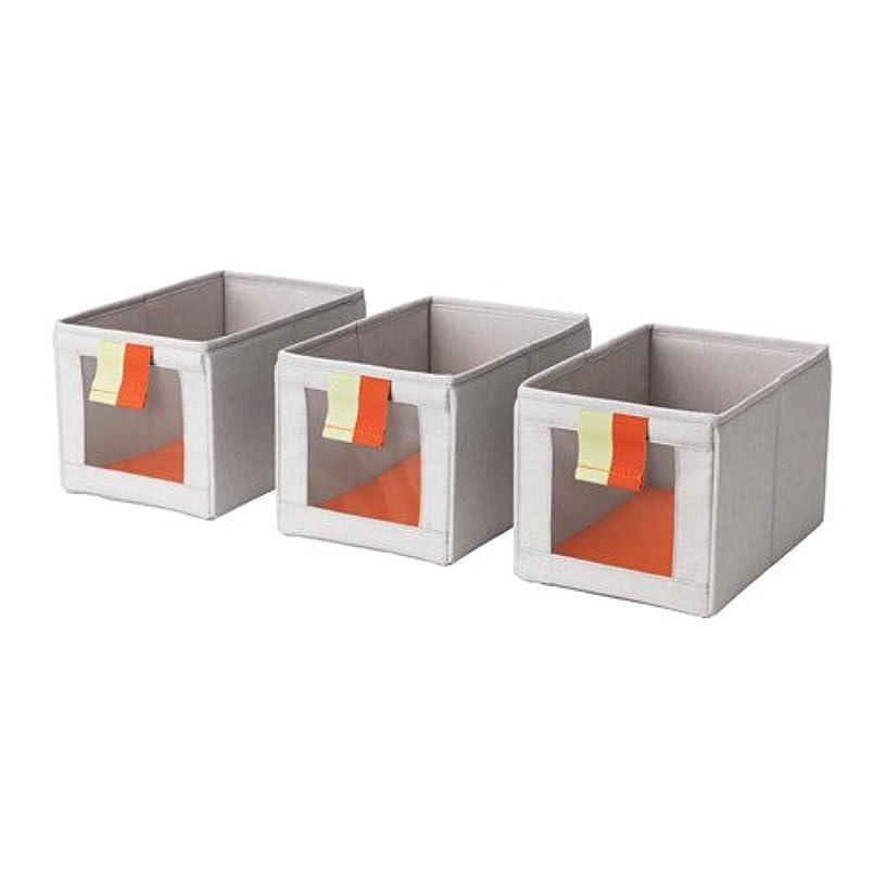 Ikea Box, gray, orange , 3 packs , 18214.82329.168