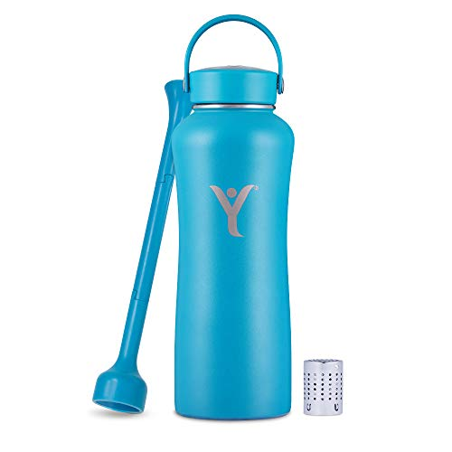 DYLN 32 oz Alkaline Water Bottle | Creates Premium Water up to 9+ pH | Keeps Cold for 24 Hours | Vacuum Insulated 316 Stainless Steel | Wide Mouth Cap | DYLN Blue, 32 oz (950 mL)