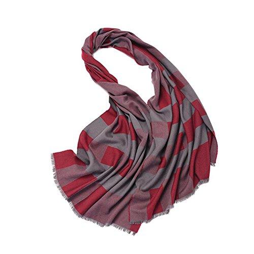 YQQ-écharpe Femme Treillis Châle Automne Et Hiver Longue Section Haute Qualité Matériau (Couleur : E)