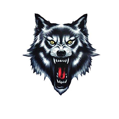Kongnijiwa Wolf-Kopf-Motorrad-Motorrad-Auto-Tür-Aufkleber Abzeichen Paster Film Emblem Aufkleber Helm Dekor