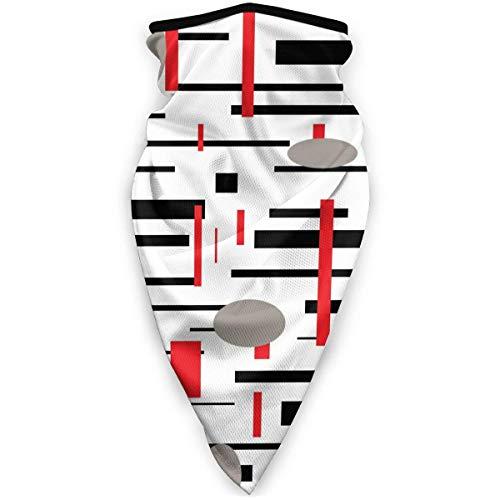 Agnes Carey Retro geométrico patrón Abstracto Medieval a Prueba de Viento Deportes Cuello más cálido pasamontañas Invierno multifunción