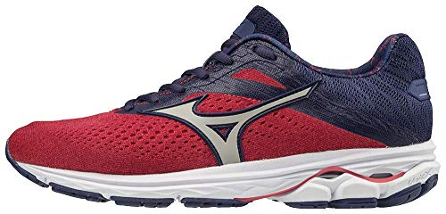 Mizuno Women's Wave Rider 23 Running Shoe, Purple Potion-Silver, 6 B US