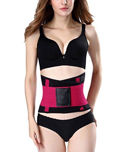 GUOCU Mujer Neopreno Cinturón Reductor Abdominal Adelgazar Moldeador de Cintura Adelgazante Abdomen Posparto Soporte de Espalda Corsé Body Shaper Rojo S