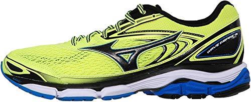Mizuno Wave Inspire, Zapatillas de Running para Hombre, Multicolor (Safetyyellow/Black/Directoireblue), 43 EU