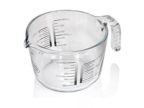Jarra medidora 1L mezclar dosificación de medición jarra de medición jarra cristal...