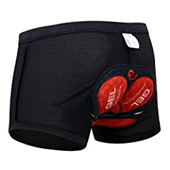 【BRAND 5D PADDED BICYCLE SHORTS】-Tired of cheap,bulky cycling shorts that easily wear after little use?Specially designed with shaped as your bike seat and stitched 5D thickened padded, which can protect friction between hip and your bike seat, fit m...