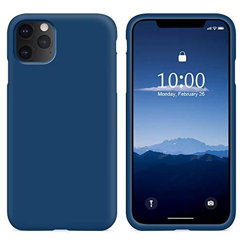 SURPHY iPhone 11 Pro Hülle, iPhone 11 Pro Hülle Silikon, iPhone 11 Pro Hülle, Liquid Silikon Handyhülle für iPhone 11 Pro 5,8 Zoll iPhone 11 Pro Silikon Hülle Schutzhülle Schutzschale, Horizont Blau