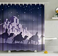WGEMXC おかしい装飾シャワーはバスルームバスルームアクセサリーのための浴室のシャワーカーテン用フック防水ファブリック風呂の装飾でカーテンシャワーカーテン