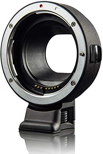 Adaptador de lente EF-EOSM Auto-Focus AF Contactor electrónico EF-M Anillo de montaje convertidor automático para Canon EF/EF-S lente a EOS M200/M100/M50/M10/M6/M5 II/M3/M2/M1 cámaras