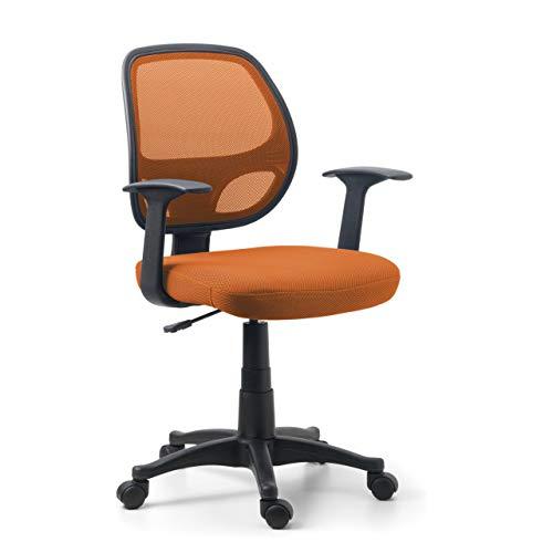 Ofichairs Silla One Silla de Escritorio Silla de Ordenador de Oficina Silla Juvenil Respaldo Transpirable de Malla Mecanismo Basculante Color Naranja