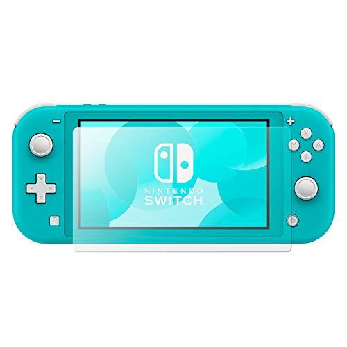 Olixar - Protector de pantalla de cristal templado para Nintendo Switch Lite, 2 unidades, con certificación 9H, protección contra golpes, transparente, tarjeta de fácil aplicación y paño